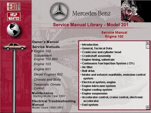 mercedes benz w201 repair manual